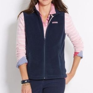 Navy Blue Fleece Vineyard Vines Vest